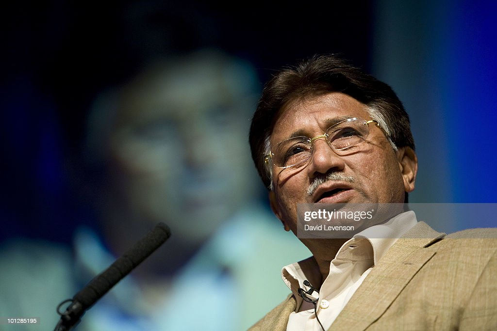 <a gi-track='captionPersonalityLinkClicked' href=/galleries/search?phrase=Pervez+Musharraf&family=editorial&specificpeople=121550 ng-click='$event.stopPropagation()'>Pervez Musharraf</a> , former President of Pakistan, discusses the volatility of the region, on stage at The Hay Festival on May 30, 2010 in Hay-on-Wye, Wales.
