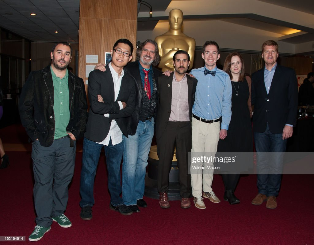 Pes, Minkyu Lee, David Silverman, Jason Schwartzman, Timothy Reckart, Fodhla Cronin O'Reilly and John Kahrs attends The Academy Of Motion Picture Arts And Sciences Presents Oscar Celebrates: Shorts at AMPAS Samuel Goldwyn Theater on February 19, 2013 in Beverly Hills, California.