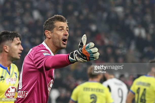 Pescara goalkeeper Albano Bizzarri during the Serie A football match n13 JUVENTUS PESCARA on at the Juventus Stadium in Turin Italy Copyright 2016...