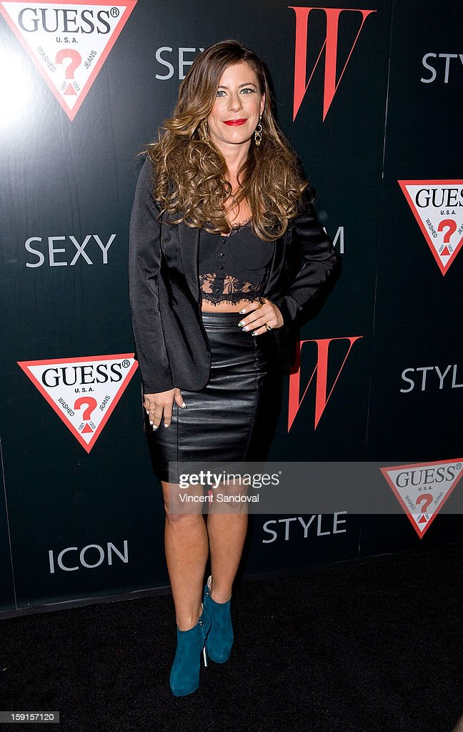 DJ Pesce attends W Magazine and Guess celebrating 30 years of fashion and film and the next generation of style icons at Laurel Hardware on January 8, 2013 in West Hollywood, California.