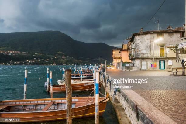Peschiera Maraglio, the village during a storm