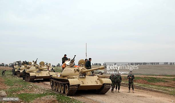 Peshmerga fighters departed from Zumar pass through Sinun district of Mosul northern Iraq while shipping military ammunition including missiles...
