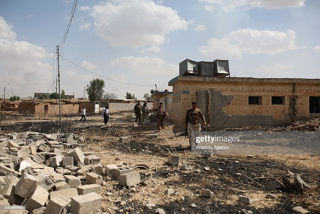 Peshmerga forces patrol as Peshmerga forces conduct an operation against Daesh terrorists in Nineveh, Iraq on May 30, 2016.