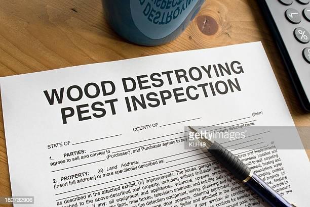 Pest Inspection Paperwork