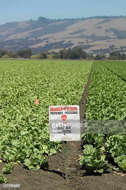 Pesticides Panneau avertisseur