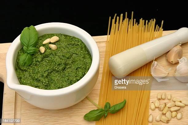 Pesto gros plan
