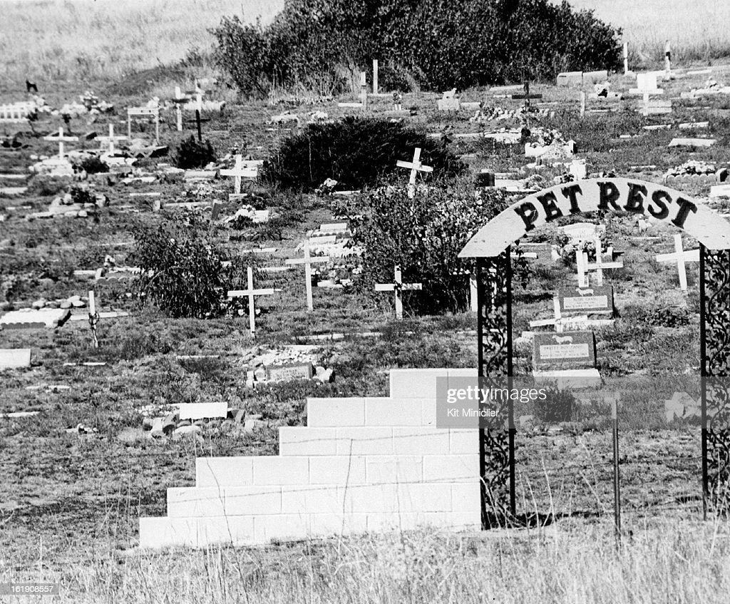 OCT 14 1980, NOV 8 1980, NOV 9 1980; Pet Rest Cemetery, Southwest of Colorado Springs, has been in Business 30 years; Proprietor James G. Penchoff says some bereaved bring their own pastors for graveside services for their pets.;