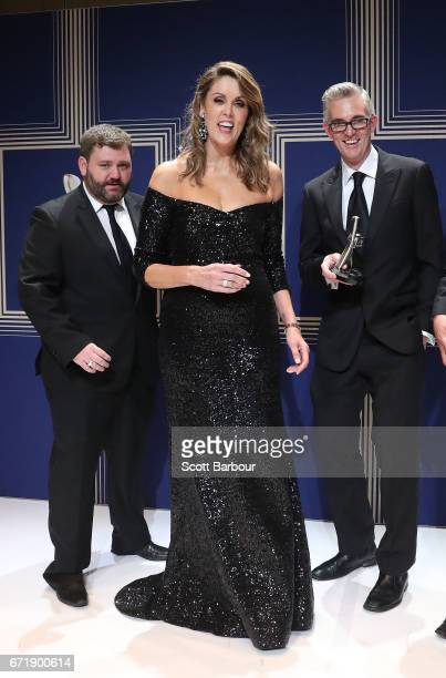 Peta Credlin poses with the Logie Award for Most Outstanding News Coverage 'Sky News Election Coverage Sky News' during the 59th Annual Logie Awards...