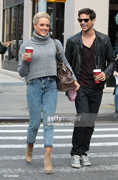 Peta Murgatroyd and Brant Daugherty are seen on November 5 2013 in New York City