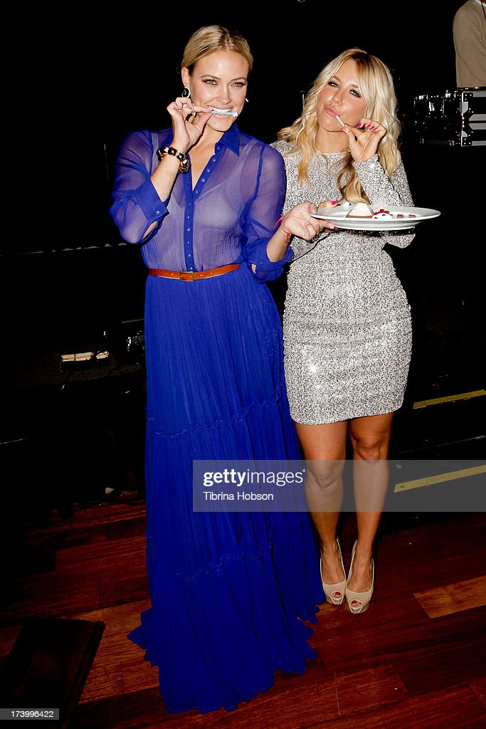 Peta Murgatroyd and Chelsie Hightower celebrate their birthdays supporting anti-human trafficking organization 'Unlikely Heroes' on July 18, 2013 in Los Angeles, California.