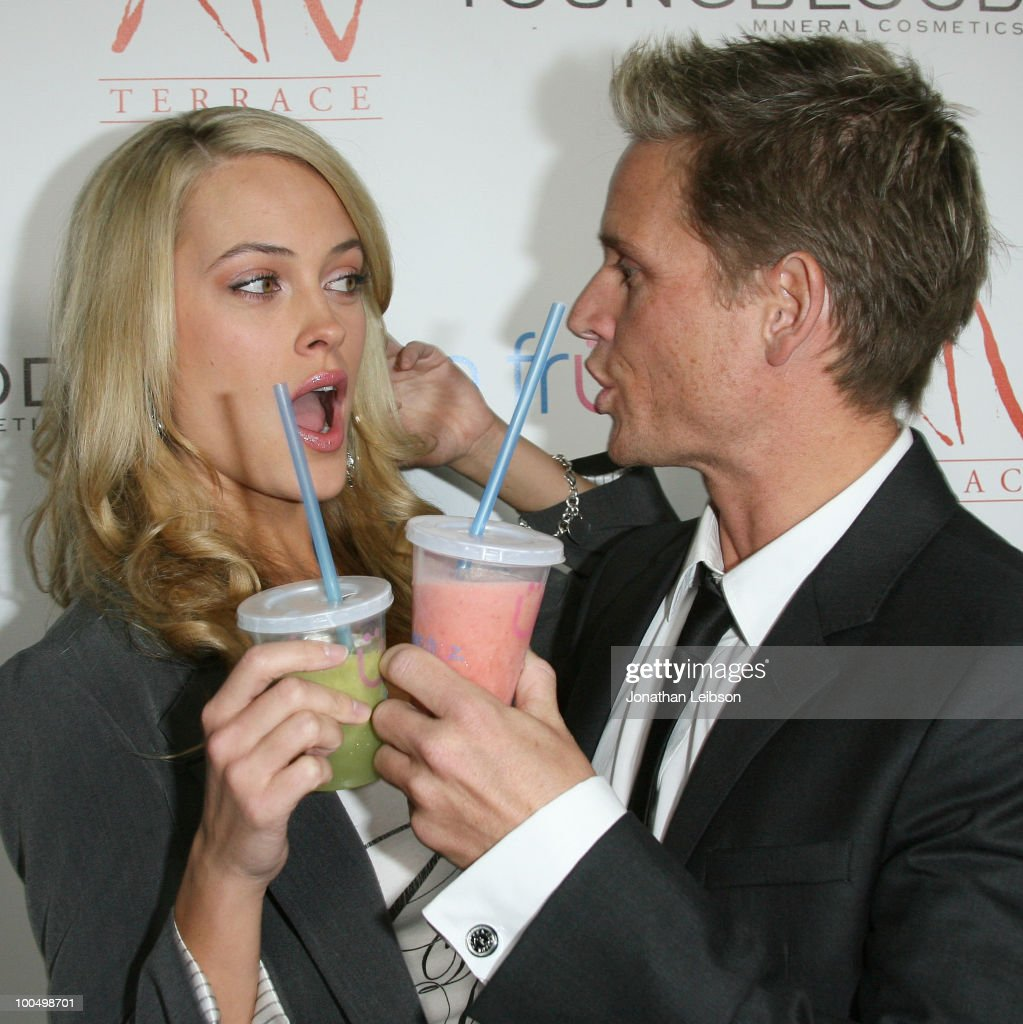 Peta Murgatroyd and Damien Whitewood attend the Birthday Celebration For Edyta Sliwinska From 'Dancing With The Stars' at XIV on May 24, 2010 in West Hollywood, California.