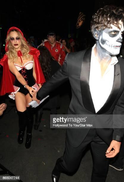Peta Murgatroyd and Maksim Chmerkovskiy are seen on October 21 2017 in Los Angeles CA