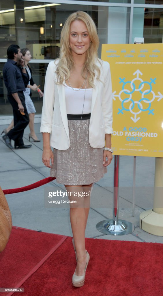 Peta Murgatroyd arrives at the Los Angeles Premiere of 'A Good Old Fashioned Orgy' at the ArcLight Theater on August 25 2011 in Hollywood California