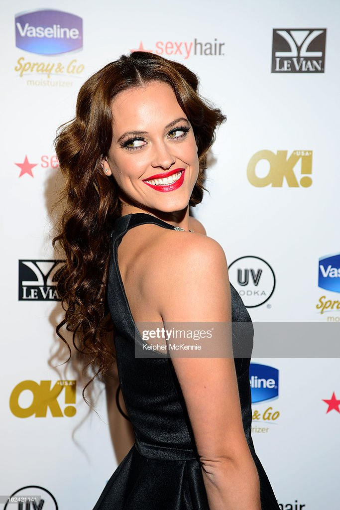 Peta Murgatroyd steps on the red carpet at OK! Magazine Pre-Oscar Party at The Emerson Theatre on February 22, 2013 in Hollywood, California.