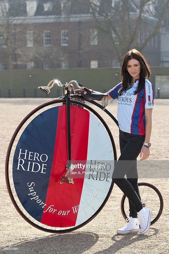 Peta Todd attends as the Help For Heroes Hero Ride is launched at Horse Guards Parade on March 5, 2013 in London, England.
