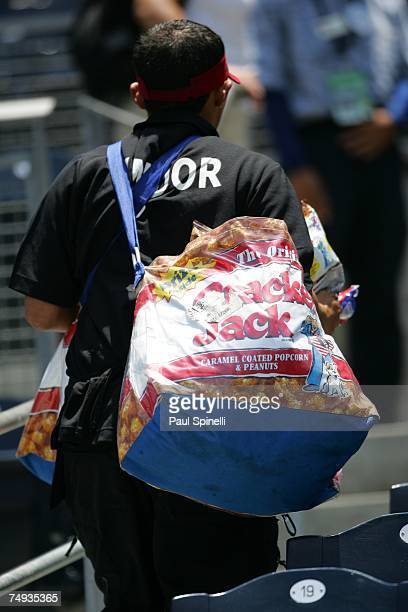 Petco Park vendor sells Cracker Jack before the game between Seattle Mariners and the San Diego Padres at Petco Park in San Diego California on June...