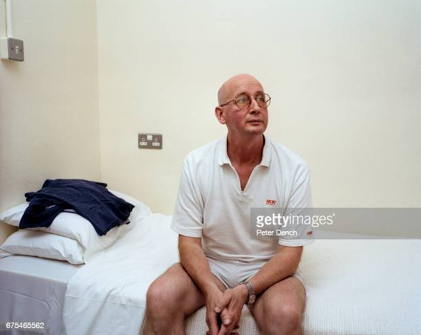 Pete Crowley in his bedroom at Alex 1 the inpatient alcohol treatment unit in the grounds of Bethlem Royal Hospital in Beckenham Kent Pete refuses to...
