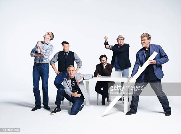 Pete Docter Richard Starzak Charlie Kaufman Peter Sohn Steve Martino for The Hollywood Reporter is photographed on November 6 2015 in Los Angeles...