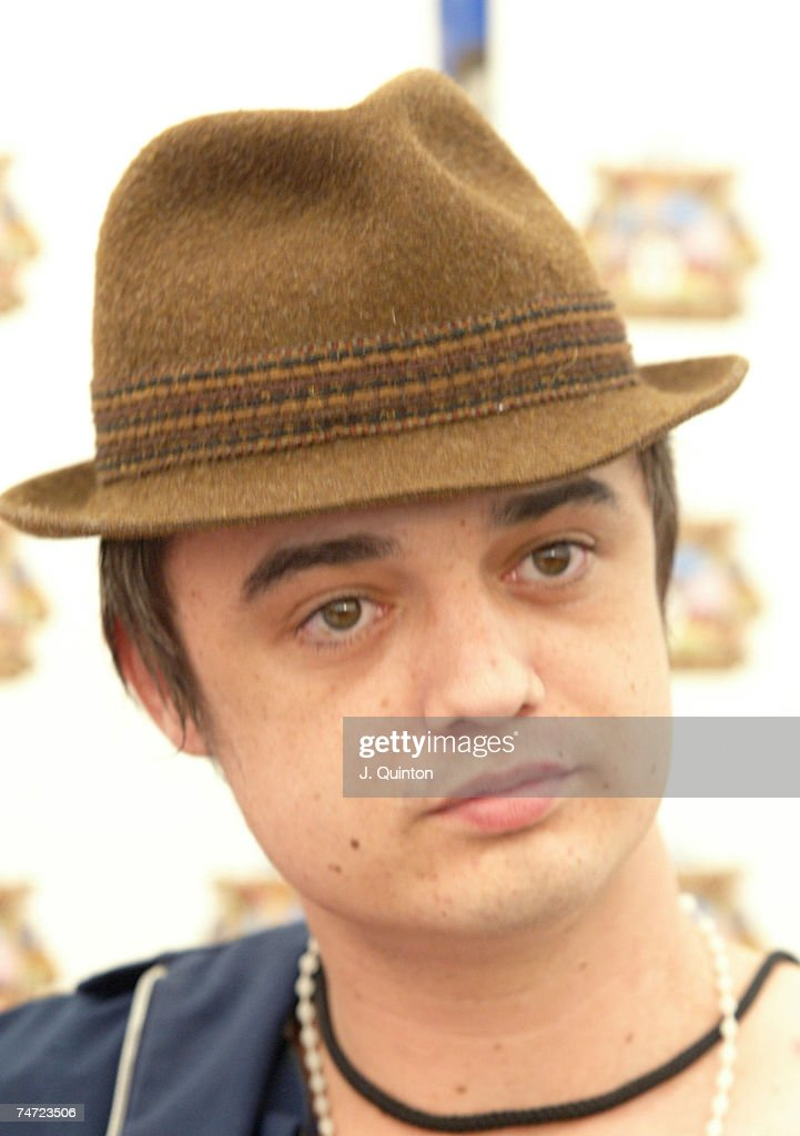 Pete Doherty at the Seaclose Park in Newport United Kingdom