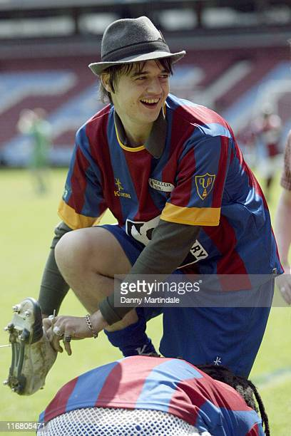Pete Doherty during Music Industry Soccer Six May 20 2007 at West Ham United Football Club in London Great Britain