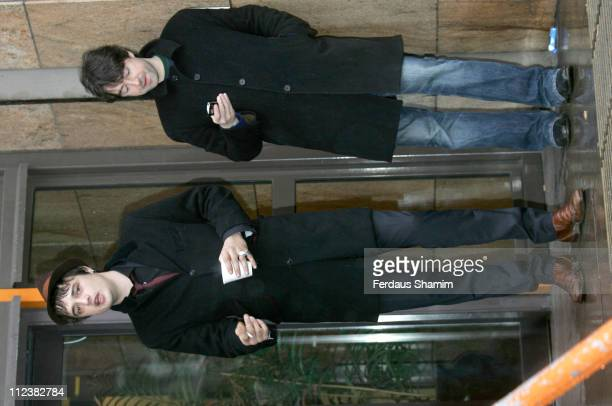 Pete Doherty during Pete Doherty Arrives at Thames Magistrates Court for his drug Possession Charge Review Hearing January 17 2007 at Thames...