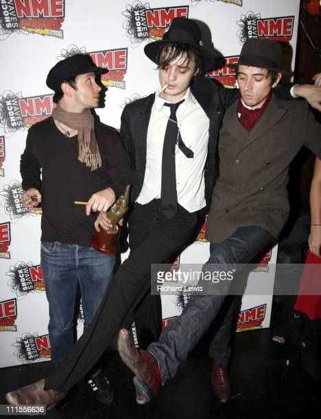 Pete Doherty of Babyshambles winner of Sexiest Male Award at the Shockwaves NME Awards 2006