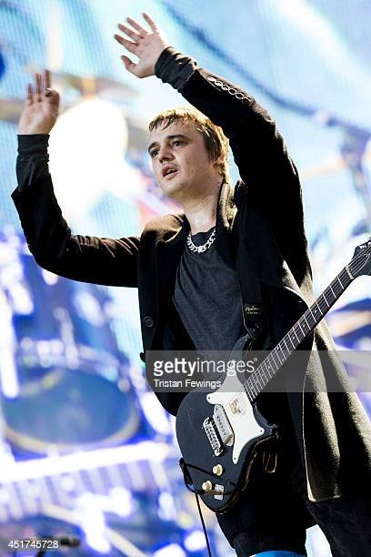 Pete Doherty of The Libertines performs on stage at British Summer Time Festival at Hyde Park on July 5 2014 in London United Kingdom