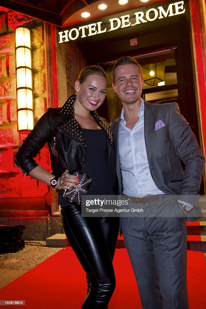 Pete Dwojak and anne Julia Hagen attend the Vodafone Night at Hotel de Rome on September 26, 2012 in Berlin, Germany.