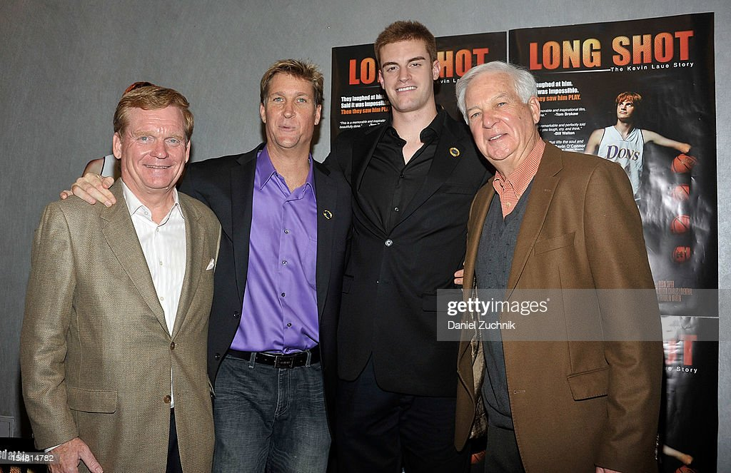 Pete Gillen, Franklin Martin, Kevin Laue and Billy Raftery attend the 'Long Shot: The Kevin Laue Story' New York Premiere at Quad Cinema on October 26, 2012 in New York City.
