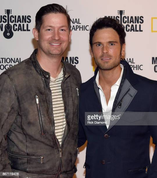 Pete Griffin President MOC and Singer/Songwriter Chuck Wicks attend Musicians On Call 10th Anniversary In Nashville With Lady Antebellum at City...