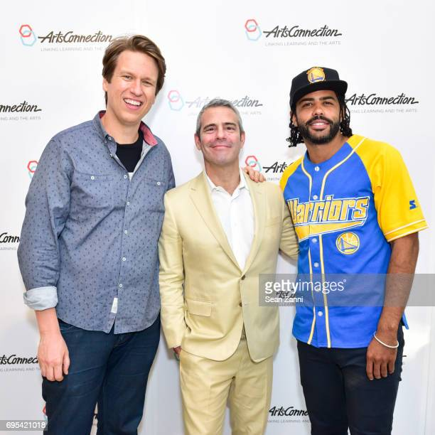 Pete Holmes Andy Cohen and Daveed Diggs attend ArtsConnection 2017 Benefit Celebration at Battery Park City School on June 12 2017 in New York City
