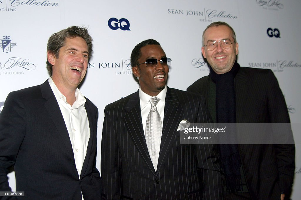 Pete Hunsinger VP Publisher of GQ, Sean 'P.Diddy' Combs and <a gi-track='captionPersonalityLinkClicked' href=/galleries/search?phrase=Jim+Moore+-+Creative+Director&family=editorial&specificpeople=14713491 ng-click='$event.stopPropagation()'>Jim Moore</a> Creative Director of GQ