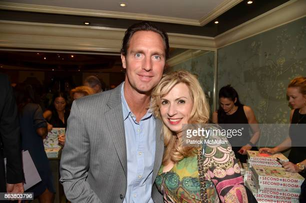 Pete Maddox and Denise Kazmier attend the launch of Second Bloom Cathy Graham's Art of the Table hosted by Joanna Coles and Clinton Smith at Bergdorf...