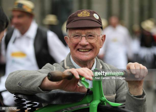 Pete Matthews and his Penny Farthing takes part in the 20th Annual Bloomsday Messenger Bike Rally in Dublin city centre today