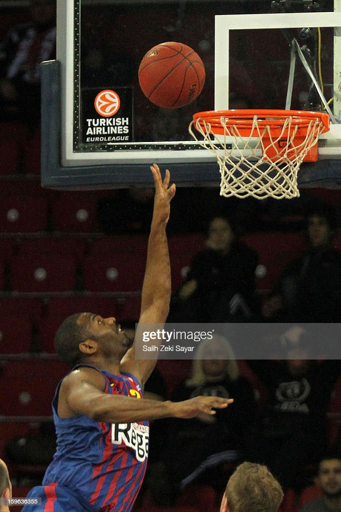 Pete Mickael #33 of FC Barcelona Regal in action during the 2012-2013 Turkish Airlines Euroleague Top 16 Date 4 between Besiktas JK Istanbul v FC Barcelona Regal at Abdi Ipekci Sports Arena on January 17, 2013 in Istanbul, Turkey.
