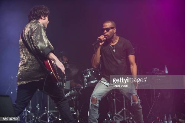 Pete Murano and Trombone Shorty perform on stage during Festival Internacional de Jazz de Barcelona at Sala Razzmatazz on December 9 2017 in...