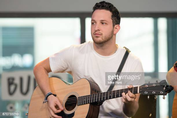 Pete Nappi of the group Ocean Park Standoff Performs at Build Studio on April 20 2017 in New York City