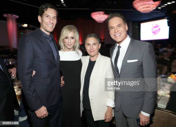 Pete Nowalk Point Honorary Board Member Judith Light honoree Jill Soloway and Point Executive Director CEO Jorge Valencia at Point Honors Los Angeles...