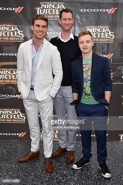 Pete Ploszek Jeremy Howard and Noel Fisher attend the 'Teenage Mutant Ninja Turtles Out Of The Shadows' World Premiere at Madison Square Garden on...