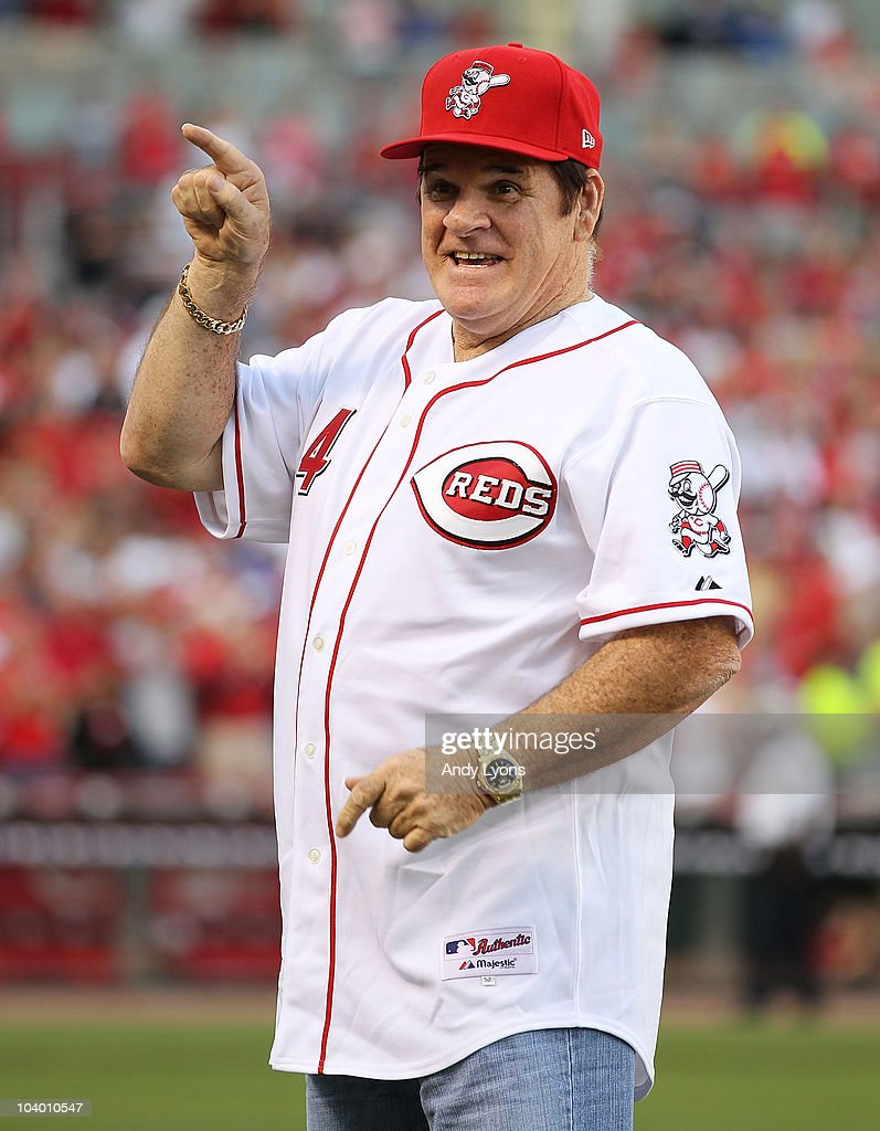 <a gi-track='captionPersonalityLinkClicked' href=/galleries/search?phrase=Pete+Rose&family=editorial&specificpeople=202020 ng-click='$event.stopPropagation()'>Pete Rose</a> takes part in the ceremony celebrating the 25th anniversary of his breaking the career hit record of 4,192 on September 11, 2010 at Great American Ball Park in Cincinnati, Ohio. He was honored before the start of the game between the Pittsburgh Pirates and the Cincinnati Reds.