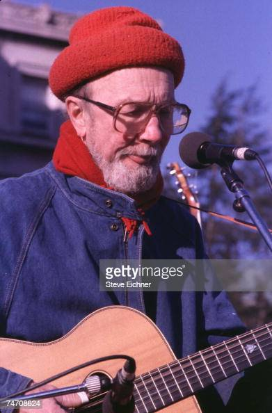 Pete Seeger at the Columbia University in New York City New York