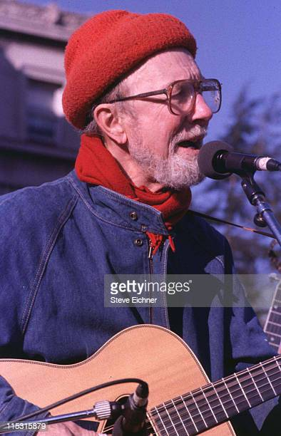 Pete Seeger during Pete Seeger Performs at Columbia University 1989 at Columbia University in New York New York United States