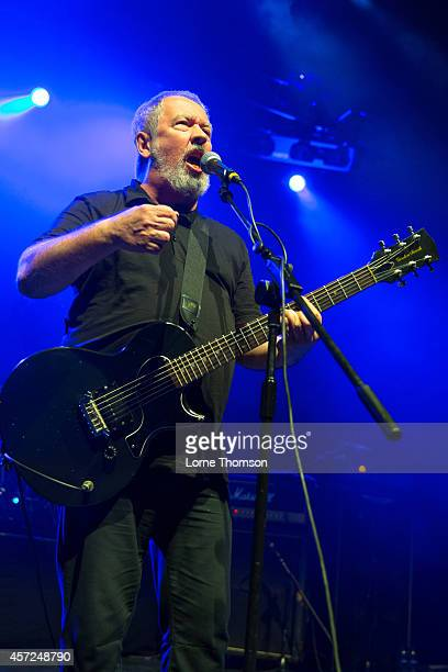 Pete Shelley of Buzzcocks performs on stage at The Forum on October 11 2014 in London United Kingdom