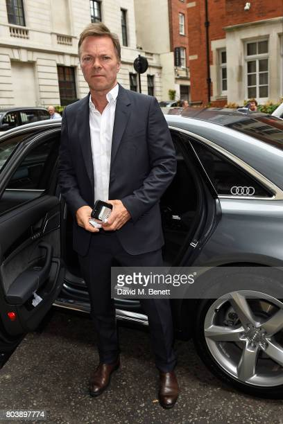 Pete Tong arrives in an Audi at the Nordoff Robbins at Grosvenor House Hotel on June 30 2017 in London United Kingdom