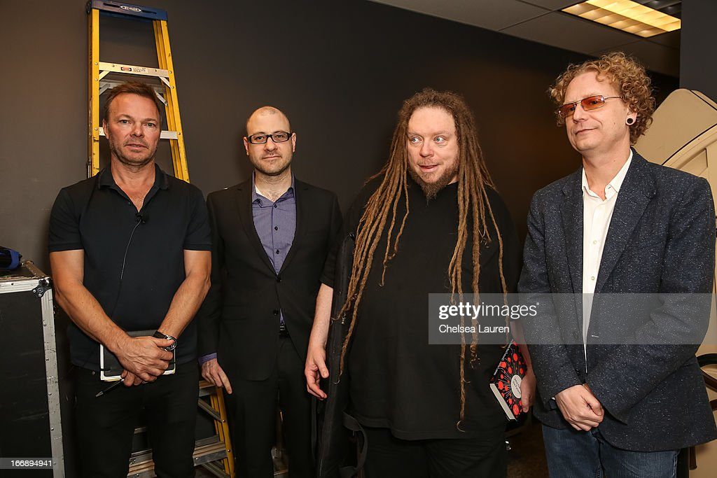 DJ Pete Tong, Billboard editorial director Bill Werde, author / virtual pioneer Jaron Lanier and Beatport CEO Matthew Adell attend IMS Engage in partnership with W Hotels Worldwide at W Hollywood on April 17, 2013 in Hollywood, California.