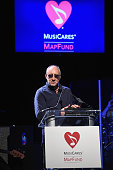 Pete Townshend accepts the Stevie Ray Vaughan Award for his dedication and support of the MusiCares MAP Fund and its addiction recovery programs...