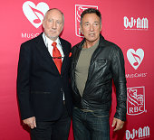Pete Townshend and Bruce Springsteen attend MusiCares MAP Fund Benefit Concert at Best Buy Theater on May 28 2015 in New York City All proceeds from...