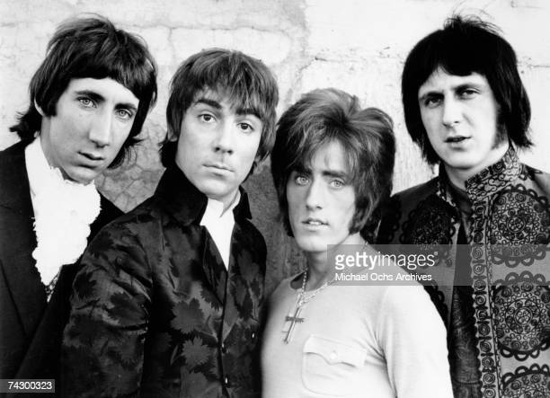 Pete Townshend Keith Moon Roger Daltrey and John Entwistle of the rock and roll band 'The Who' pose for a portrait in circa 1966