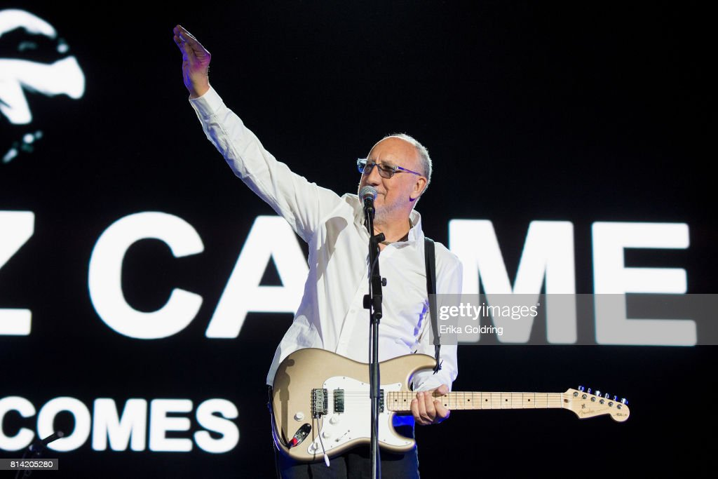 Pete Townshend of The Who performs at Festival d'ete de Quebec on July 13, 2017 in Quebec City, Canada.