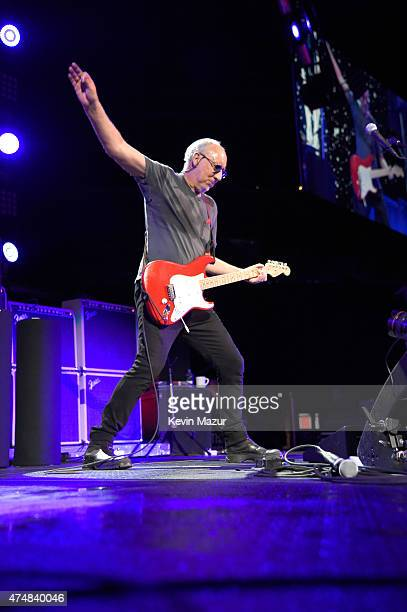 Pete Townshend of The Who performs onstage during their Hits 50 North American tour at Barclays Center of Brooklyn on May 26 2015 in New York City